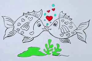 13192-how-to-draw-valentines-fish-how-to-draw-couple-kiss